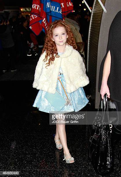 Francesca Capaldi is seen in Hollywood on March 01 2015 in Los Angeles California
