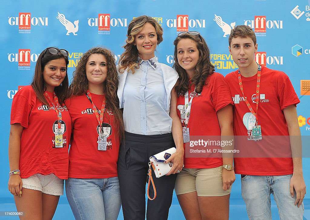 Francesca Cavallin and the jurors attend 2013 Giffoni Film Festival photocall on July 19, 2013 in Giffoni Valle Piana, Italy.