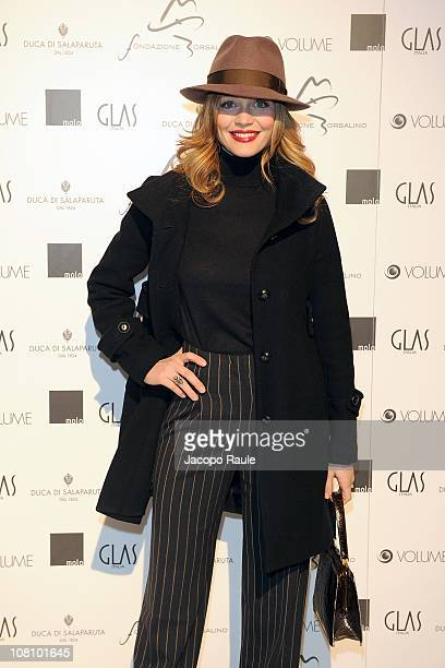 Francesca Cavallin attend 'Il Cinema Con Il Cappello' during Milan Fashion Week Menswear A/W 2011 on January 17 2011 in Milan Italy