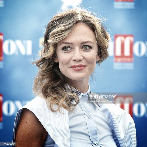 Francesca Cavallin attends 2013 Giffoni Film Festival photocall on July 19 2013 in Giffoni Valle Piana Italy