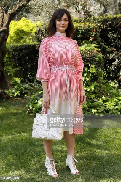 Francesca Cavallin attends a photocall for 'Di Padre In Figlia' at Rai Viale Mazzini on April 6 2017 in Rome Italy