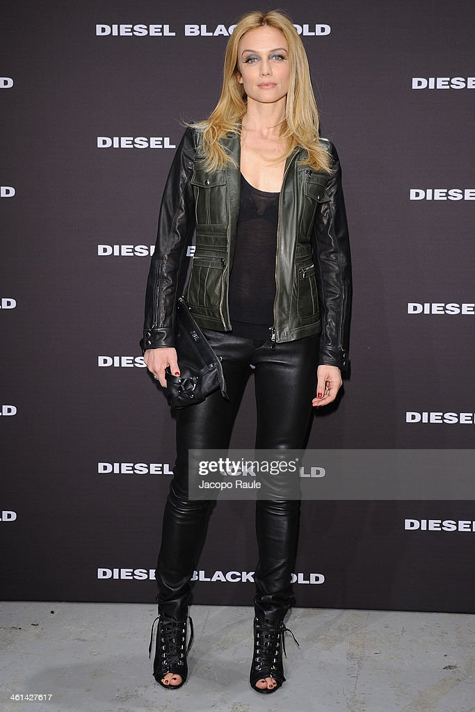 Francesca Cavallin attends Diesel Black Gold fashion show during Pitti Immagine Uomo 85 on January 8, 2014 in Florence, Italy.