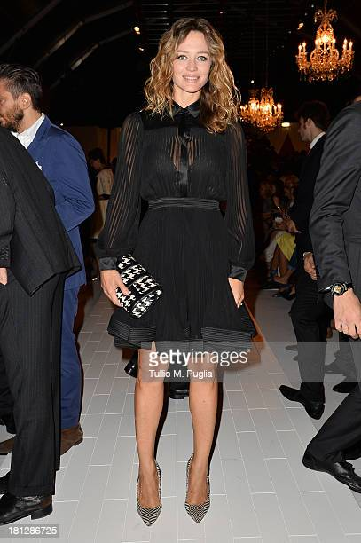 Francesca Cavallin attends the Blumarine show as a part of Milan Fashion Week Womenswear Spring/Summer 2014 on September 20 2013 in Milan Italy
