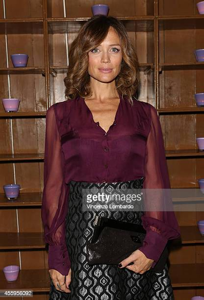 Francesca Cavallin attends the L'Officiel Hommes 5th Anniversary Party on September 18 2014 in Milan Italy