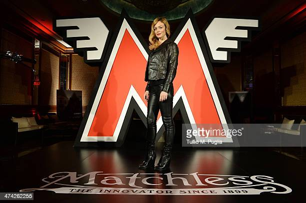 Francesca Cavallin attends the ''Matchless London presents 115th anniversary womenswear coolection' after party as a part of Milan Fashion Week...