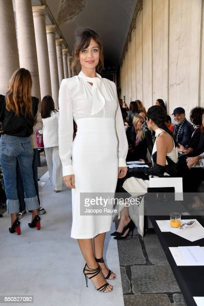 Francesca Cavallin attends the Max Mara show during Milan Fashion Week Spring/Summer 2018 on September 21 2017 in Milan Italy