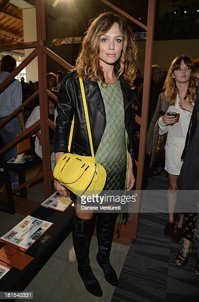 Francesca Cavallin attends the Missoni show as a part of Milan Fashion Week Womenswear Spring/Summer 2014 on September 22 2013 in Milan Italy