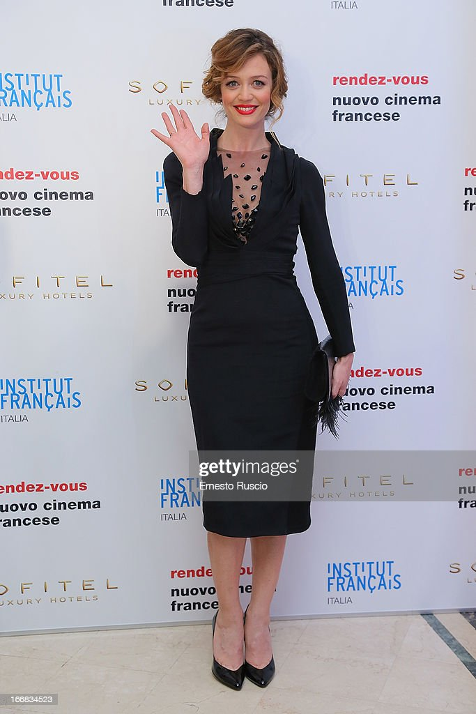 Francesca Cavallin attends the Rendez-Vous Film Festival opening night at Hotel Sofitel on April 17, 2013 in Rome, Italy.