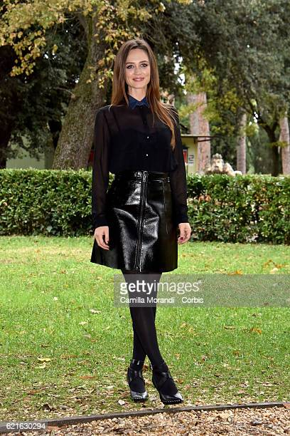 Francesca Cavallin attends the ' Rocco Schiavone' Tv movie photocall on November 7 2016 in Rome Italy