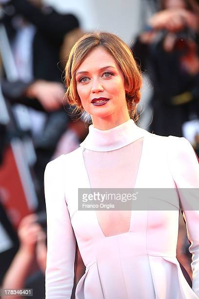 Francesca Cavallin attends the 'Tracks' premiere during the 70th Venice International Film Festival at the Palazzo del Cinema on August 29 2013 in...