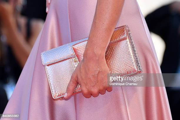 Francesca Cavallin detail walks the red carpet ahead of the 'Downsizing' screening and Opening Ceremony during the 74th Venice Film Festival at Sala...