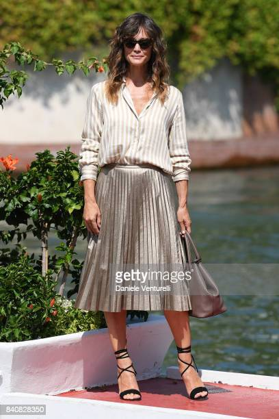 Francesca Cavallin is seen during the 74th Venice Film Festival on August 30 2017 in Venice Italy