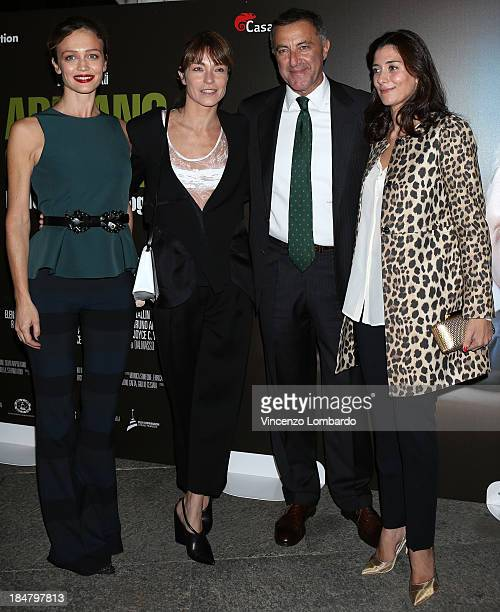 Francesca Cavallin Stefania Rocca Luca Barbareschi and Laura Gorna attend the preview of film 'Adriano Olivetti La forza di un sogno' on October 16...