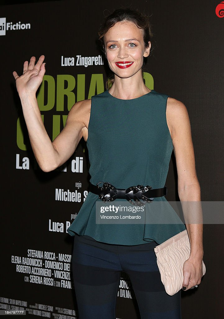 <a gi-track='captionPersonalityLinkClicked' href=/galleries/search?phrase=Francesca+Cavallin&family=editorial&specificpeople=4386450 ng-click='$event.stopPropagation()'>Francesca Cavallin</a>i attends the preview of film 'Adriano Olivetti. La forza di un sogno' on October 16, 2013 in Milan, Italy.