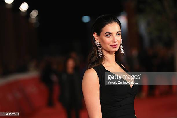 Francesca Chillemi walks a red carpet for 'Moonlight' on October 13 2016 in Rome Italy
