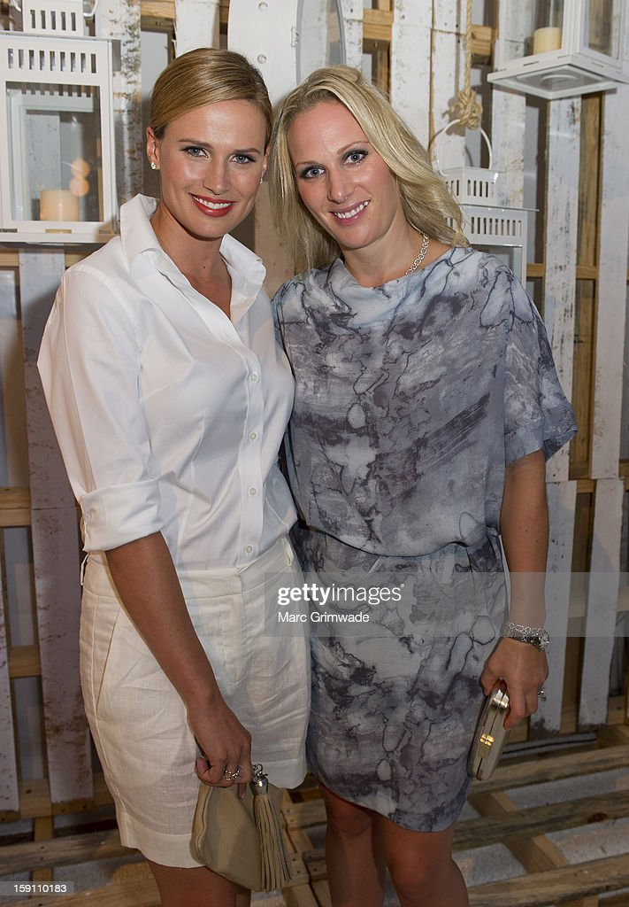Francesca Cumani and Zara Phillips during the Magic Millions Opening Night cocktail party at Surfers Paradise on January 8, 2013 in Surfers Paradise, Australia.