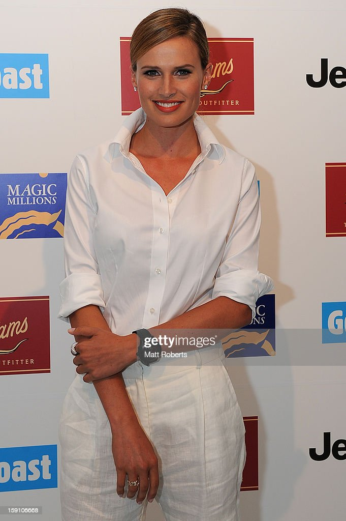Francesca Cumani poses during the Magic Millions Opening Night cocktail party at Surfers Paradise foreshore on January 8, 2013 in Surfers Paradise, Australia.