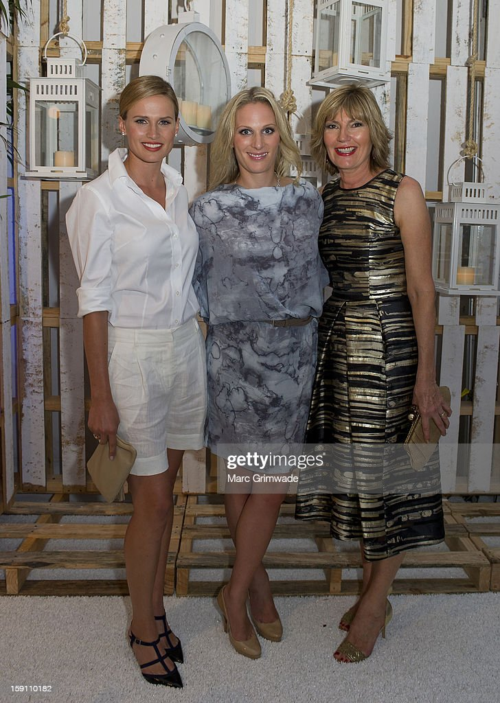 Francesca Cumani, <a gi-track='captionPersonalityLinkClicked' href=/galleries/search?phrase=Zara+Phillips&family=editorial&specificpeople=161323 ng-click='$event.stopPropagation()'>Zara Phillips</a> and Katie Page during the Magic Millions Opening Night cocktail party at Surfers Paradise on January 8, 2013 in Surfers Paradise, Australia.