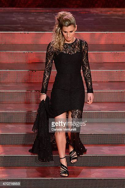 Francesca Dallape attends the opening night of the 64th Festival di Sanremo 2014 at Teatro Ariston on February 18 2014 in Sanremo Italy