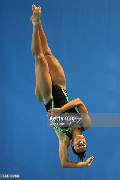 Francesca Dallape of Italy competes in the Womens 1m Springboard Final during the 2012 European Diving Championships at the Pieter van den Hoogenband...