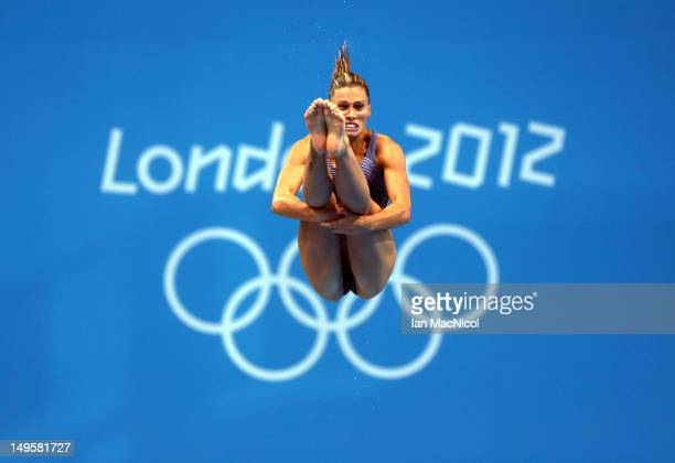 Francesca Dallape of Italy practices at the diving pool during the 2012 London Olympics at the Aquatics Centre on July 31 2012 in London England