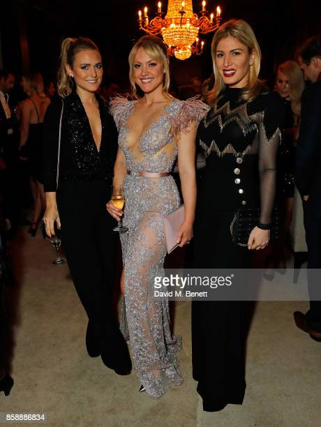 Francesca Dutton Camilla Kerslake and Hofit Golan attend Chris Robshaw and Camilla Kerslake's engagement party at Ten Trinity Square Private Club on...