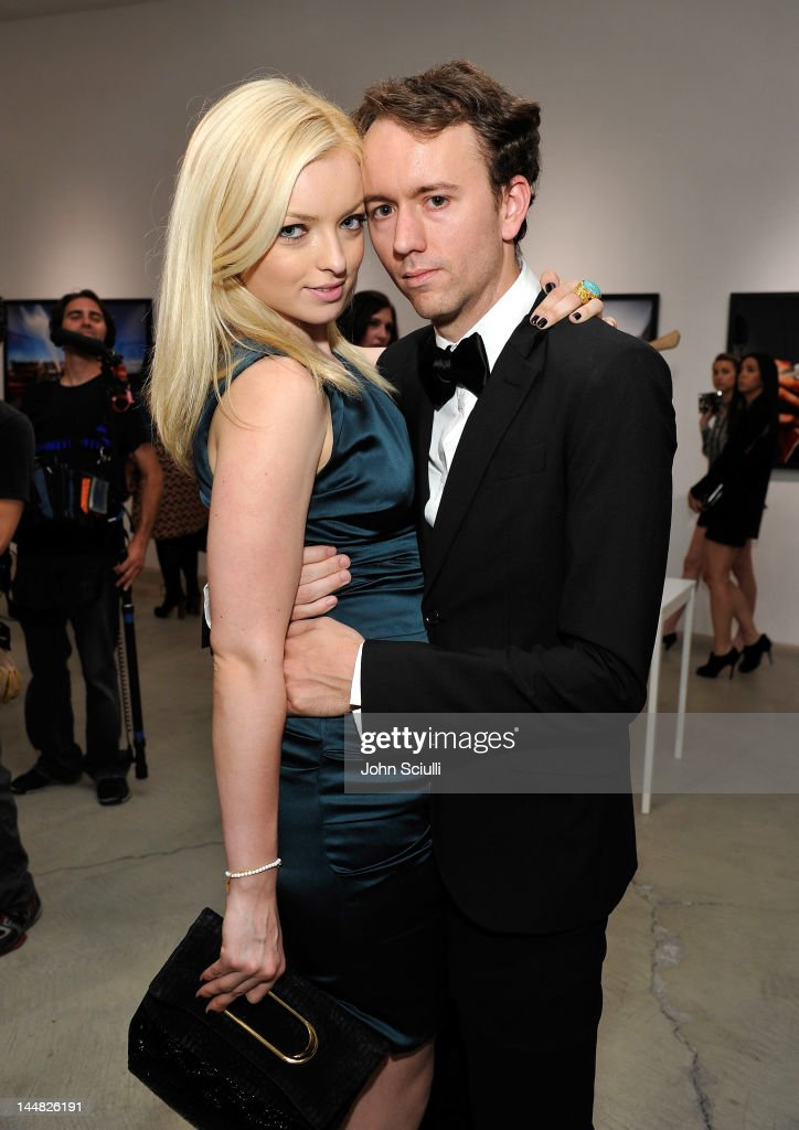 Francesca Eastwood and artist Tyler Shields attend Tyler Shields debut of MOUTHFUL presented by A/X Armani Exchange in support of LOVE IS LOUDER at a...