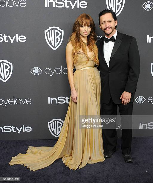 Francesca Eastwood and Clifton Collins Jr arrive at the 18th Annual PostGolden Globes Party hosted by Warner Bros Pictures and InStyle at The Beverly...