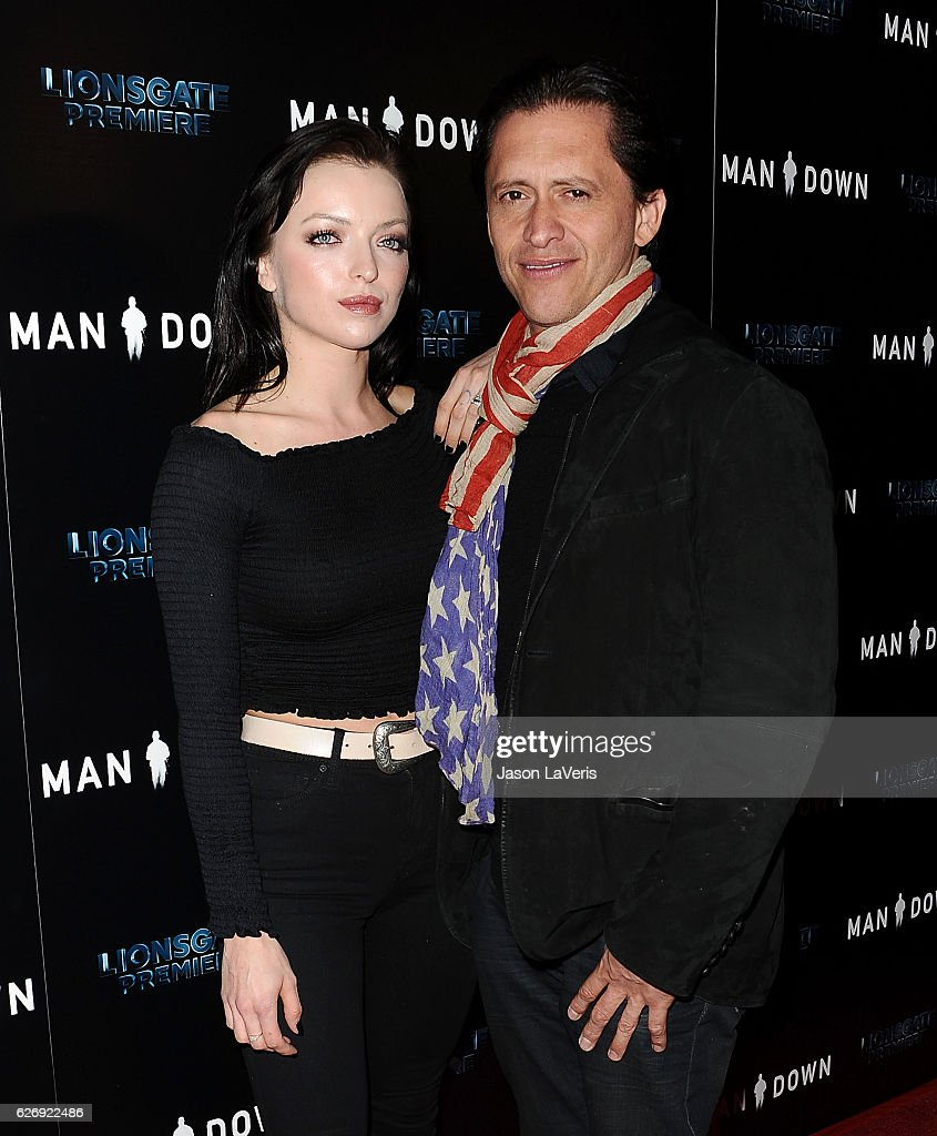 Francesca Eastwood and Clifton Collins Jr. attend the premiere of 'Man Down' at ArcLight Hollywood on November 30, 2016 in Hollywood, California.
