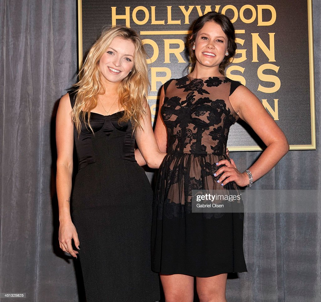 Francesca Eastwood (L) and Sosie Bacon attend The Hollywood Foreign Press Association (HFPA) And InStyle Celebrates The 2014 Golden Globe Awards Season at Fig & Olive Melrose Place on November 21, 2013 in West Hollywood, California.