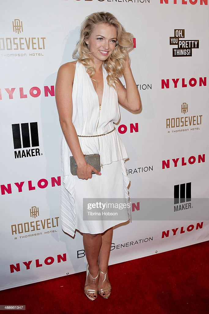 Francesca Eastwood attend the Nylon Magazine May young Hollywood issue party at Tropicana Bar at The Hollywood Rooselvelt Hotel on May 8, 2014 in Hollywood, California.