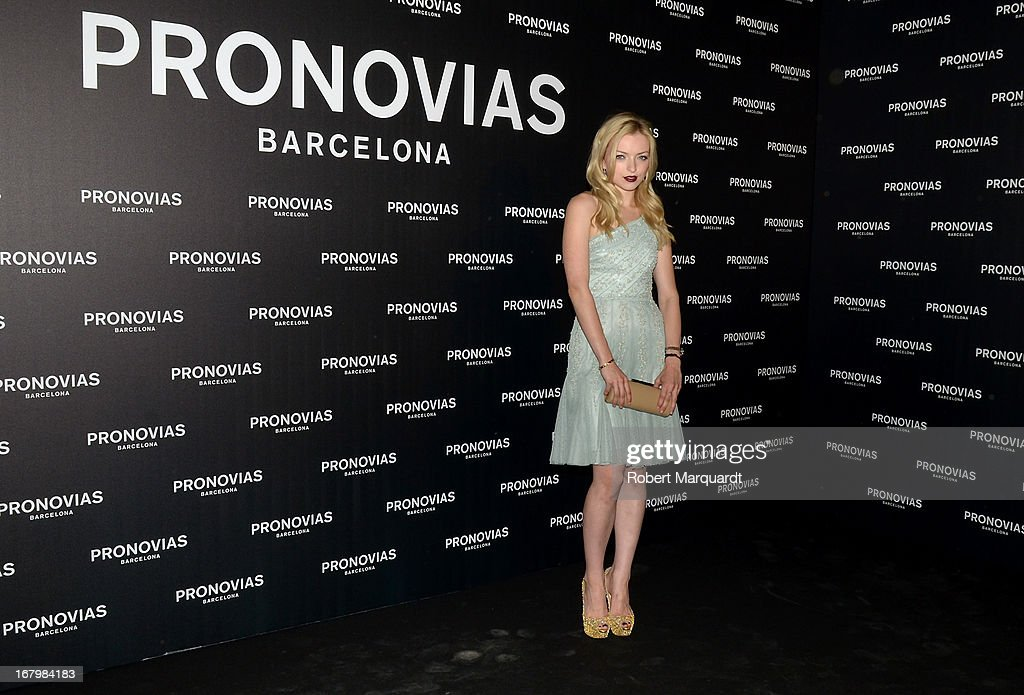 Francesca Eastwood poses for a photocall before the Pronovias bridal fashion show during Barcelona Bridal Week 2013 on May 3, 2013 in Barcelona, Spain.