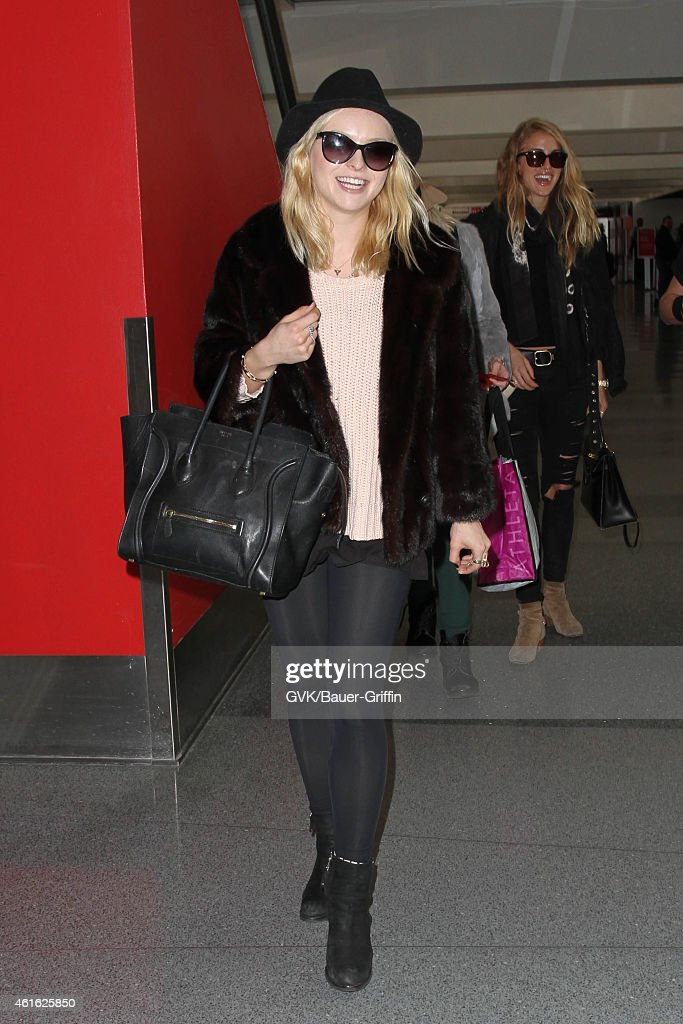 Francesca Eastwood seen at LAX on January 15 2015 in Los Angeles California