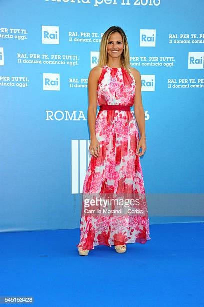 Francesca Fialdini at the Rai Show Schedule on July 5 2016 in Rome Italy