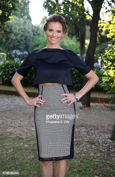 Francesca Fialdini attends RAI Yearly TV Show Schedule at Villa Piccolomini on June 25 2015 in Rome Italy