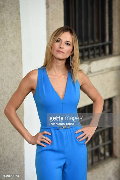 Francesca Fialdini attends the Rai show schedule presentation at Statale University of Milan on June 28 2017 in Milan Italy