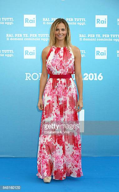 Francesca Fialdini attends the Rai Show Schedule Presentation at Salone Delle Fontane on July 5 2016 in Rome Italy