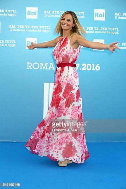 Francesca Fialdini attends the Rai Show Schedule Presentation at Salone Delle Fontane on July 5 2016 in Rome Italy