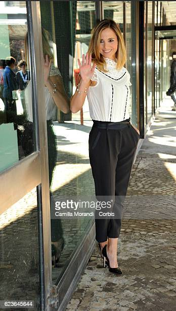 Francesca Fialdini attends 'Zecchino d'Oro' Photocall on November 16 2016 in Rome Italy