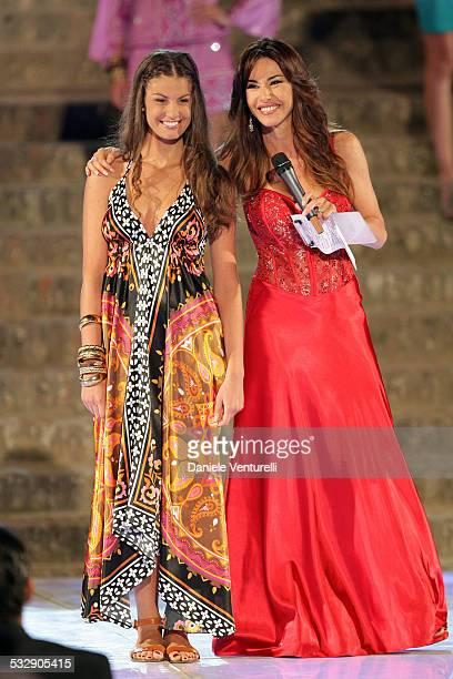 Francesca Fioretti and Emanuela Folliero attend 'Sfilata D' Amore e Moda' at Trepponti on June 17 2009 in Comacchio Italy