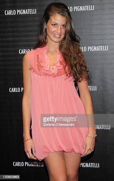 Francesca Fioretti attends Carlo Pignatelli Cerimonia Fashion Show during Milan Fashion Week Menswear Spring/Summer 2010 on June 19 2009 in Milan...
