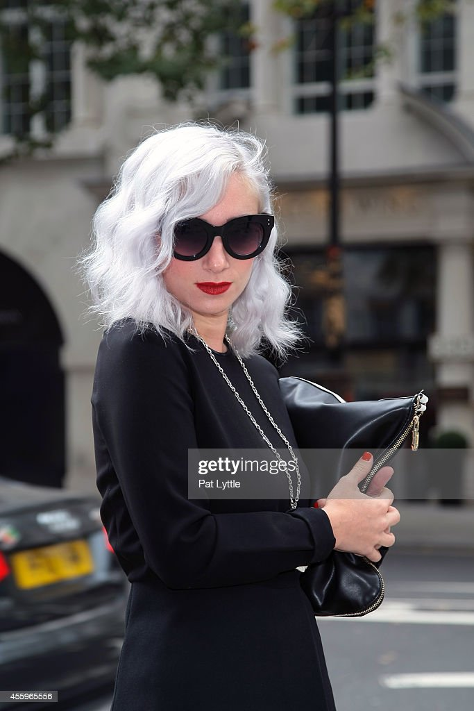 Francesca from Italy spotted on day 2 of London Fashion Week SS 2015 wears a complete ensemble entirely by Zara on September 13 2014 in London England