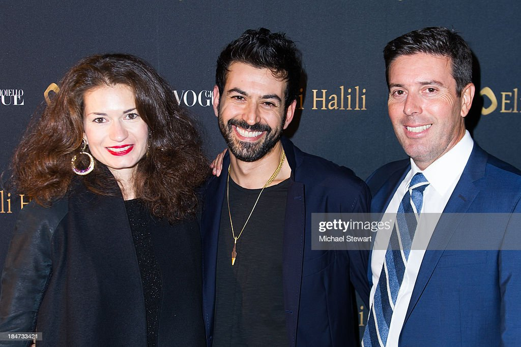Francesca Giorgetti, Eli Halili and Alessandro Cremona attend the Eli Halili Soho Boutique Grand Opening with Vogue Gioiello on October 15, 2013 in New York City.