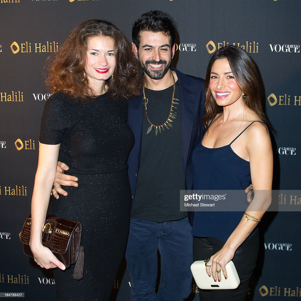 Francesca Giorgetti, Eli Halili and <a gi-track='captionPersonalityLinkClicked' href=/galleries/search?phrase=Sarah+Shahi&family=editorial&specificpeople=538555 ng-click='$event.stopPropagation()'>Sarah Shahi</a> attend the Eli Halili Soho Boutique Grand Opening with Vogue Gioiello on October 15, 2013 in New York City.