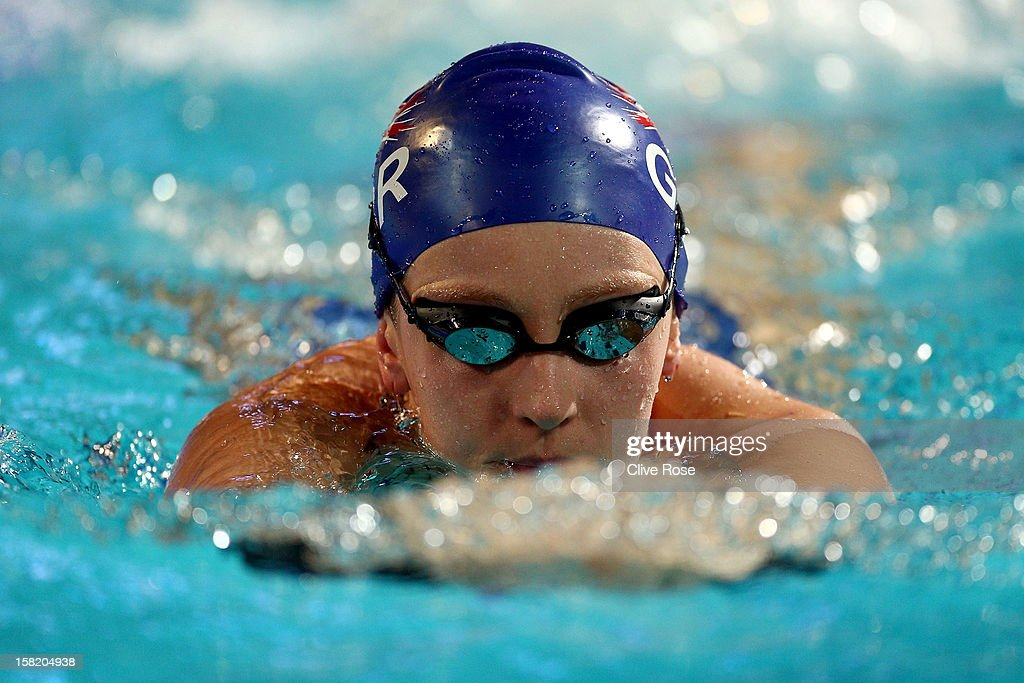 Francesca Hallsall of Great Britain in action during a training session prior to the FINA World Short Course Swimming Championships on December 11, 2012 in Istanbul, Turkey.
