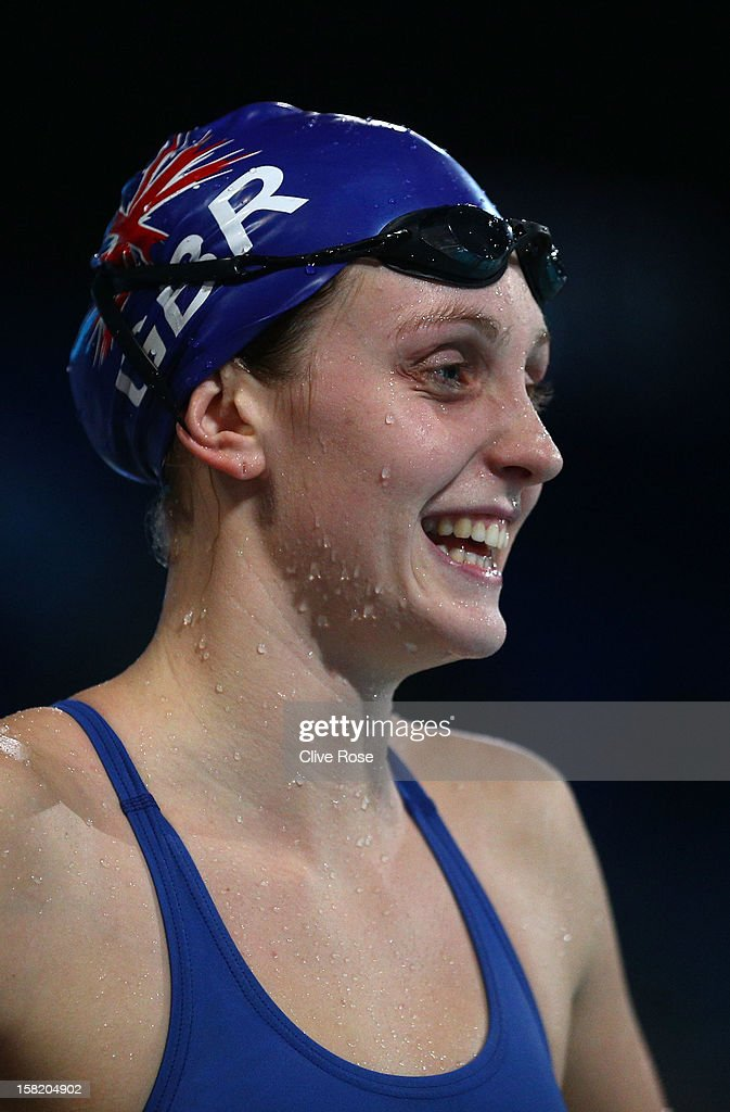 Francesca Hallsall of Great Britain looks on during a training session prior to the FINA World Short Course Swimming Championships on December 11, 2012 in Istanbul, Turkey.