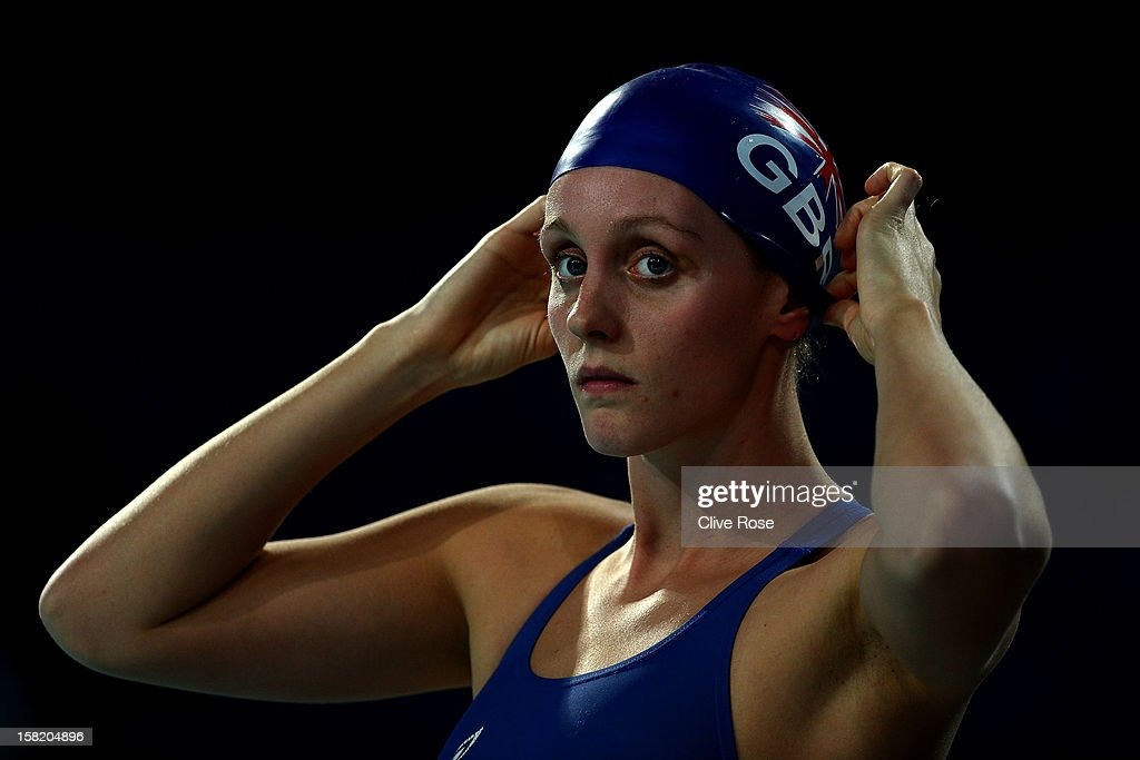 Francesca Hallsall of Great Britain prepares to swim during a training session prior to the FINA World Short Course Swimming Championships on December 11, 2012 in Istanbul, Turkey.