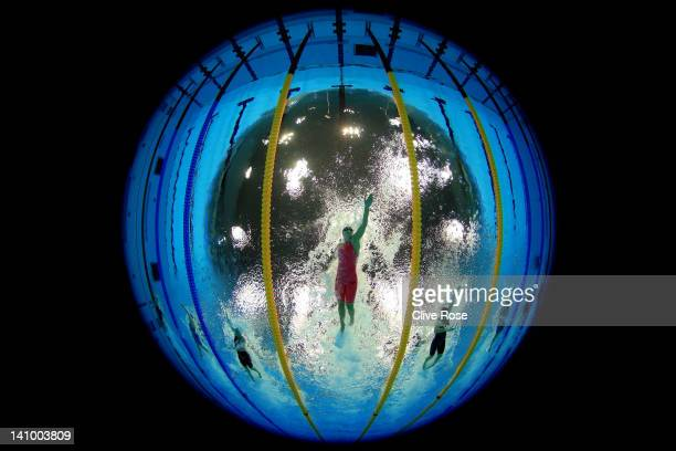 Francesca Halsall of Loughborough University S WPC competes in the Women's 50m Freestyle Semi Final 2 during day seven of the British Gas Swimming...