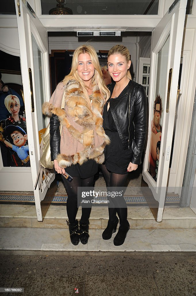Francesca Hull and Ashley James sighting at the Electric Cinema on February 5, 2013 in London, England.
