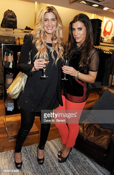 Francesca Hull and Gabriella Ellis attend the Panasonic Technics 'Shop To The Beat' Party hosted by George Lamb at French Connection Oxford Circus on...